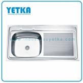 Fregadero YETKA Premium Derecho para sobreponer