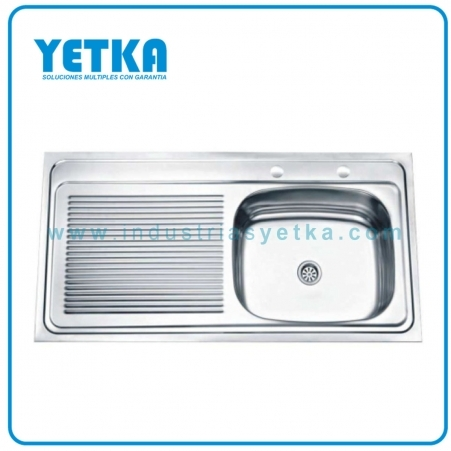 Fregadero YETKA Premium izquierdo para sobre poner