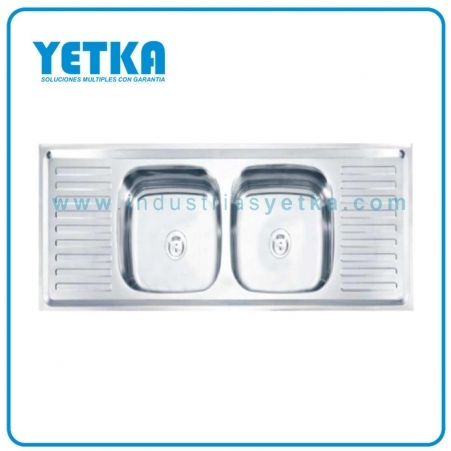 Fregadero YETKA Premium doble TWIN para emportrar