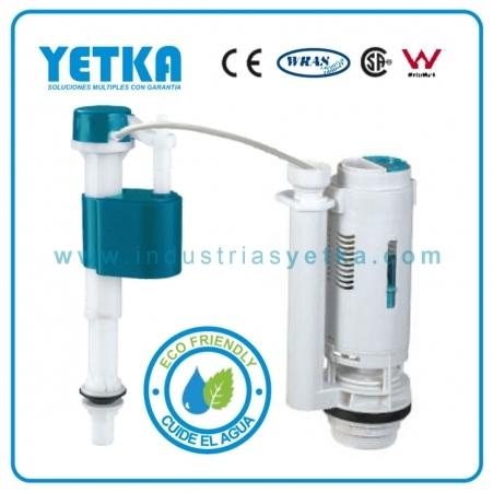 Juego de herraje YETKA Premium Top Push Dual Flush