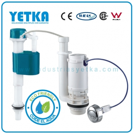 Juego de herraje YETKA Premium dual flush boton