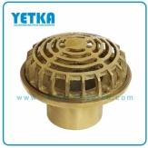 Rejilla cúpula bronce de  75mm